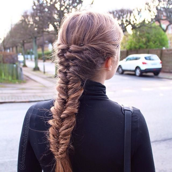 French Fishtail Braid Long Hairstyles Pictures