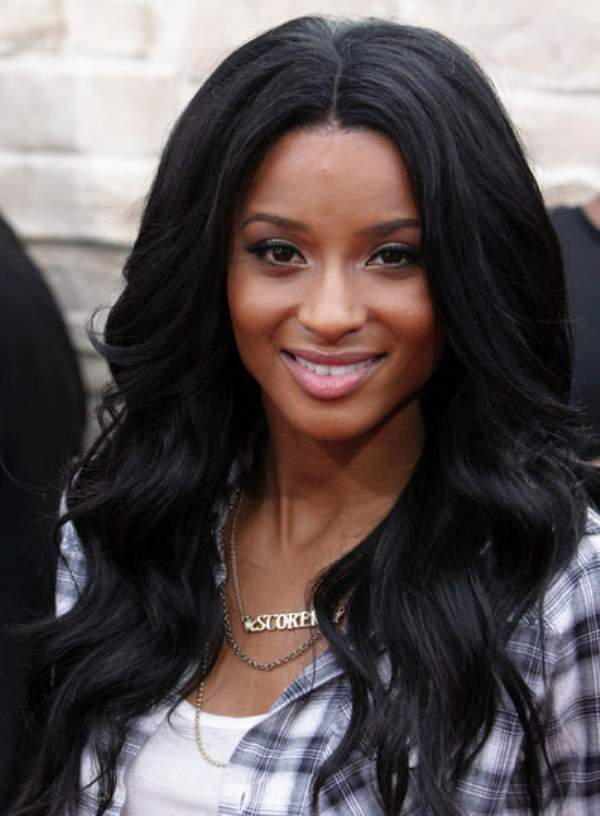 Crimped Long Straight Hairstyle For Black People