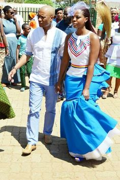 Tswana Traditional Wedding Attire For Couples Pictures