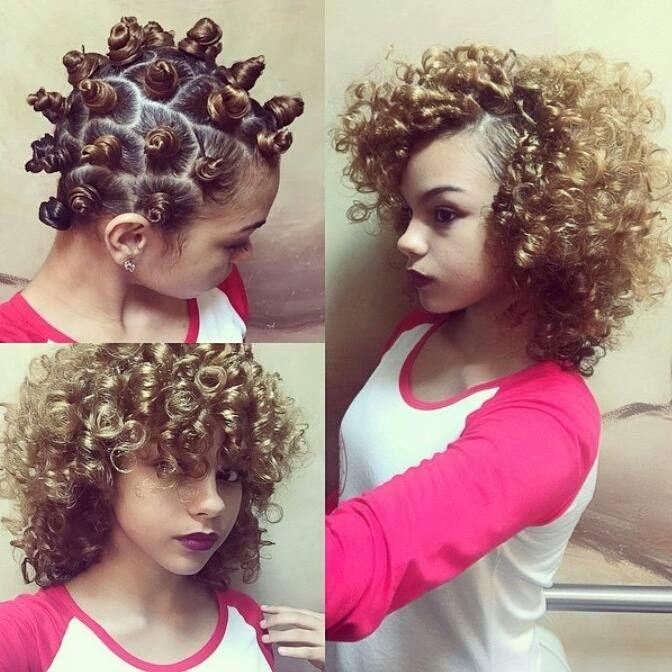 Bantu Knots on Short Straight Hair