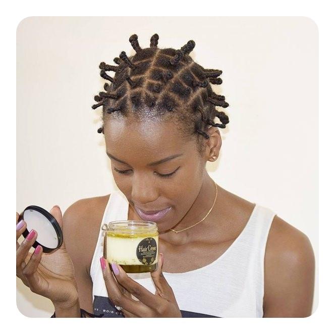 Bantu Knots on Short Thin Hair
