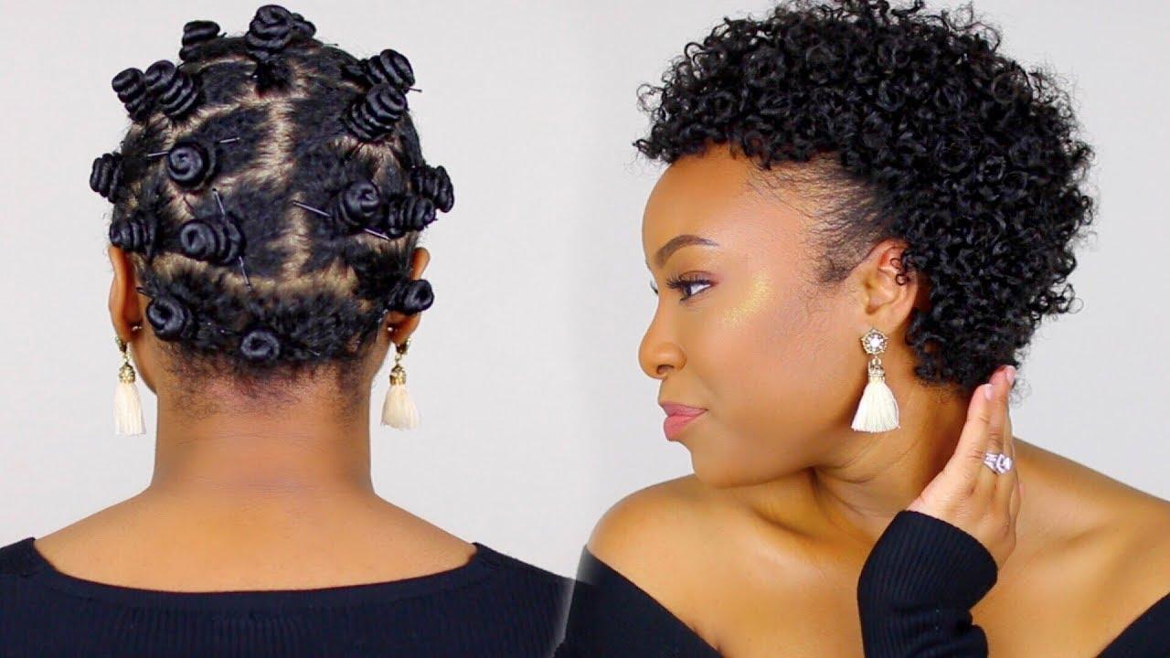 Bantu Knots on Short Transitioning Hair