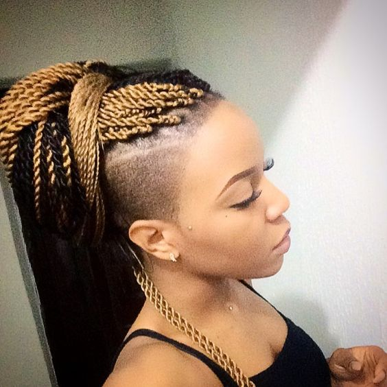 senegalese twist hairstyles with shaved sides