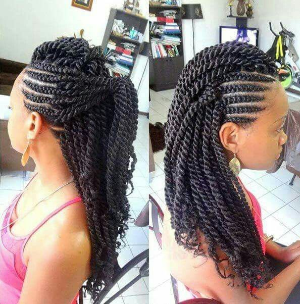 senegalese twist mohawk hairstyles
